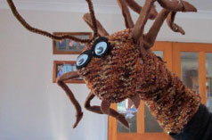 Weta puppet from Little Blue Duck